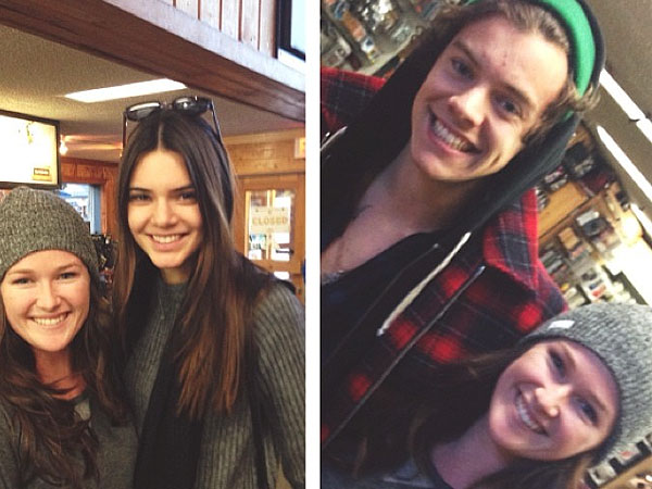 Harry Styles & Kendall Jenner Spotted Together at Ski Shop, Pose with Fan