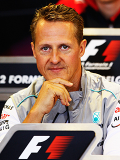 Formula 1 Legend Michael Schumacher Showing 'Moments of