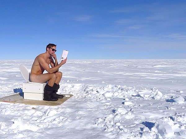 PHOTO: Alexander Skarsgard Strips Down at the South Pole