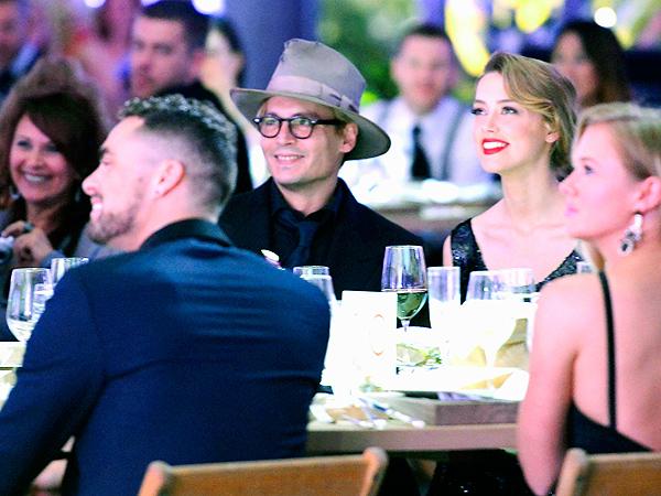 Johnny Depp and Amber Heard Enjoy a Date Night at an L.A. Gala| Amber Heard, Johnny Depp
