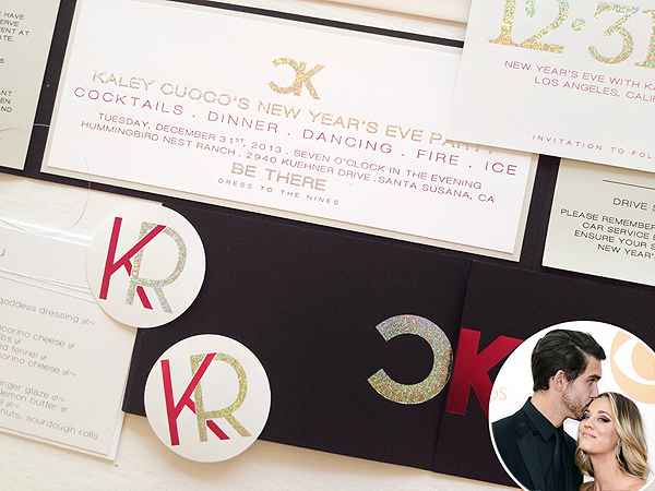 See Kaley Cuoco's Chic Wedding Invitation – with No Mention of the Wedding!