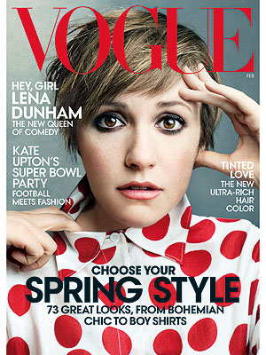 Lena Dunham Is Vogue's Latest Covergirl| HBO, Girls, Lena Dunham