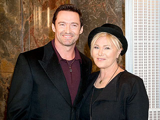 Hugh Jackman, Wife Light Up New York for Australia Day