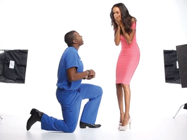 Model Quiana Grant Surprised by Marriage Proposal During Fake Photo Shoot