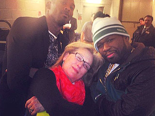 See Meryl Streep and 50 Cent – Together! – Get 'A Little Gangsta'