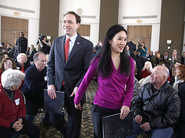 Michelle Kwan, First Lady of Rhode Island? Husband Runs for Governor
