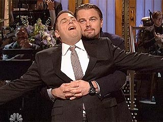 Watch Leonardo DiCaprio and Jonah Hill Reenact Titanic Scene on SNL