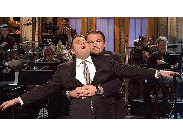 Watch Leonardo DiCaprio and Jonah Hill Reenact Titanic Scene on SNL