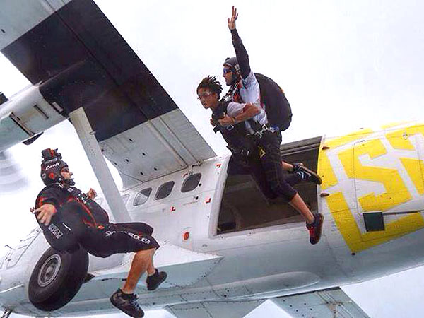 ACTION PHOTO: Jaden Smith Goes Skydiving! | Jaden Smith