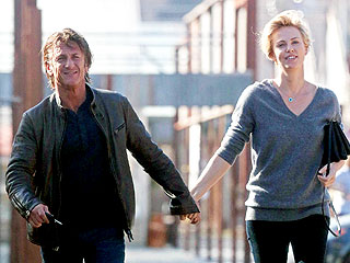 Charlize Theron and Sean Penn Celebrate Valentine's Day with Friends