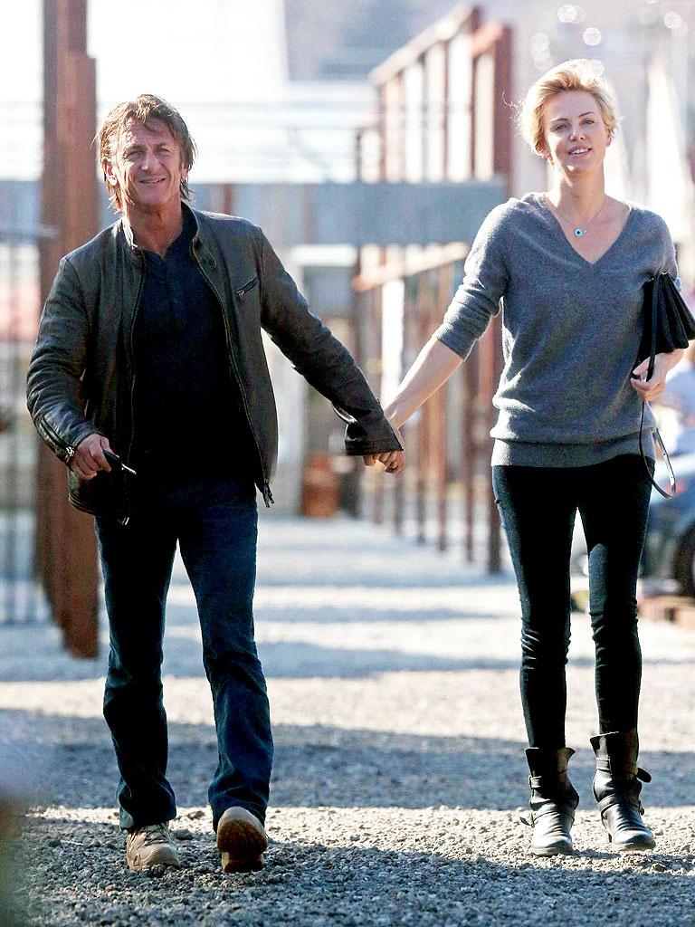 Sean penn and charlize theron celebrate an early valentine s day with