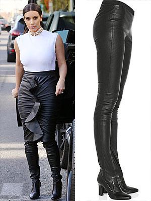 Kim Kardashian legging boots