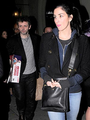 Sarah Silverman Is Stepping Out with Michael Sheen| Couples, Jimmy Kimmel, Kate Beckinsale, Michael Sheen, Sarah Silverman