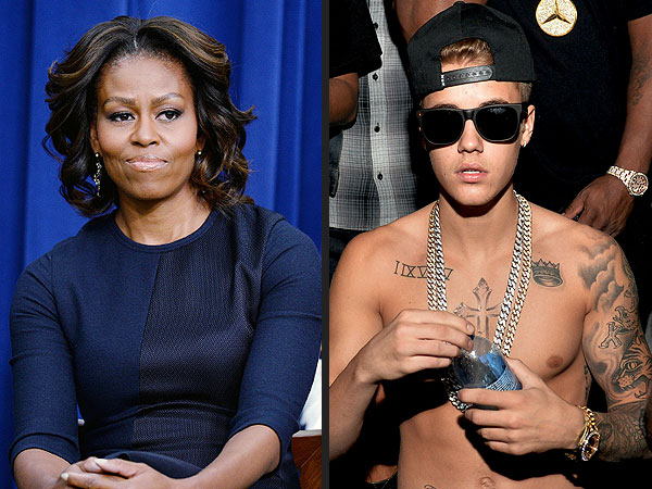 Michelle Obama's Advice to Justin Bieber's Parents: 'Pull Him Close'