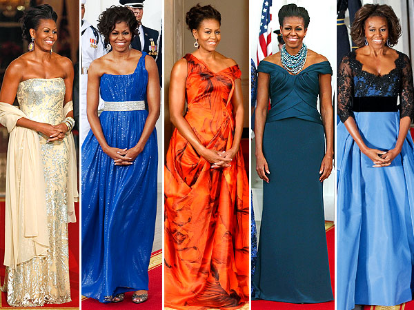 Michelle Obama Carolina Herrera State Dinner