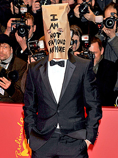 Shia LaBeouf Attends Premiere Wearing a Paper Bag