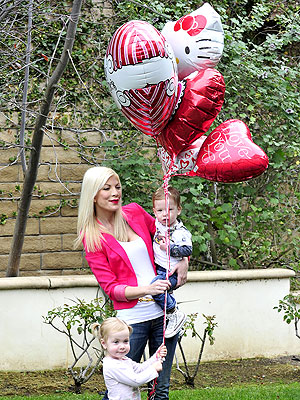See How Tori Spelling Spent Her Valentine's Day