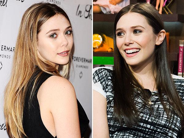 Elizabeth Olsen hair change