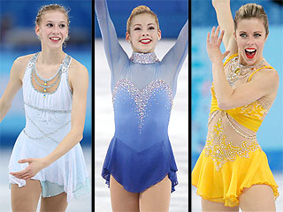 Team USA's Women Figure Skaters React to Their Performances | Winter Olympics 2014, Ashley Wagner, Gracie Gold