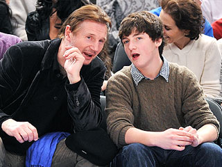 Back to School? Liam Neeson & His Son Tour Boston College | Liam Neeson