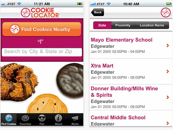 Girl Scout Cookie Tracking App Developed by The Kellogg Company