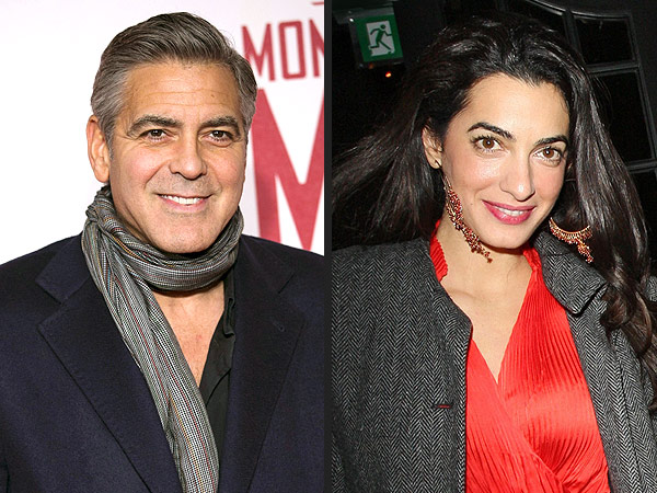 George Clooney Cozies Up to Pretty British Lawyer in D.C. | George Clooney