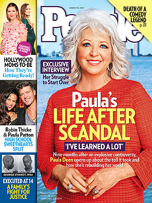 Paula Deen Says She's Indulging 'Way Too Much' Post-Scandal| Celebrity Scandals, Paula Deen Cover, Paula Deen