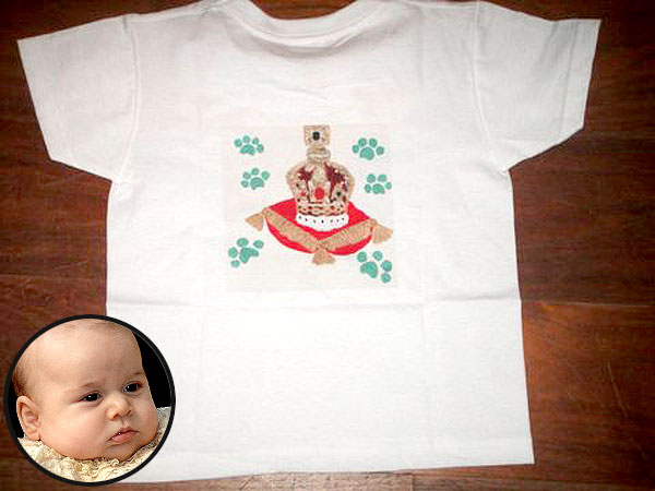 Prince George Gets a Custom T-Shirt with Some Queen Elizabeth Flair