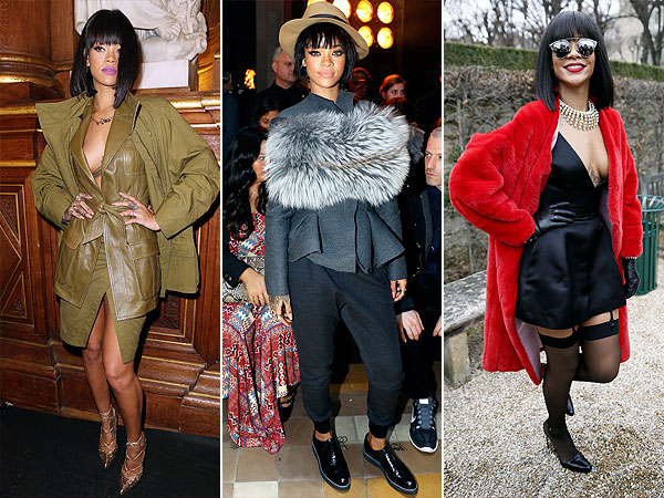 Rihanna Paris Fashion Week Style