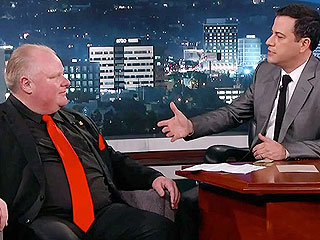Watch Jimmy Kimmel Grill Rob Ford on His Drinking