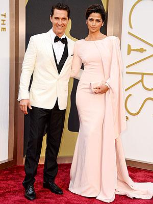 Matthew McConaughey Camila Alves Oscars 2014