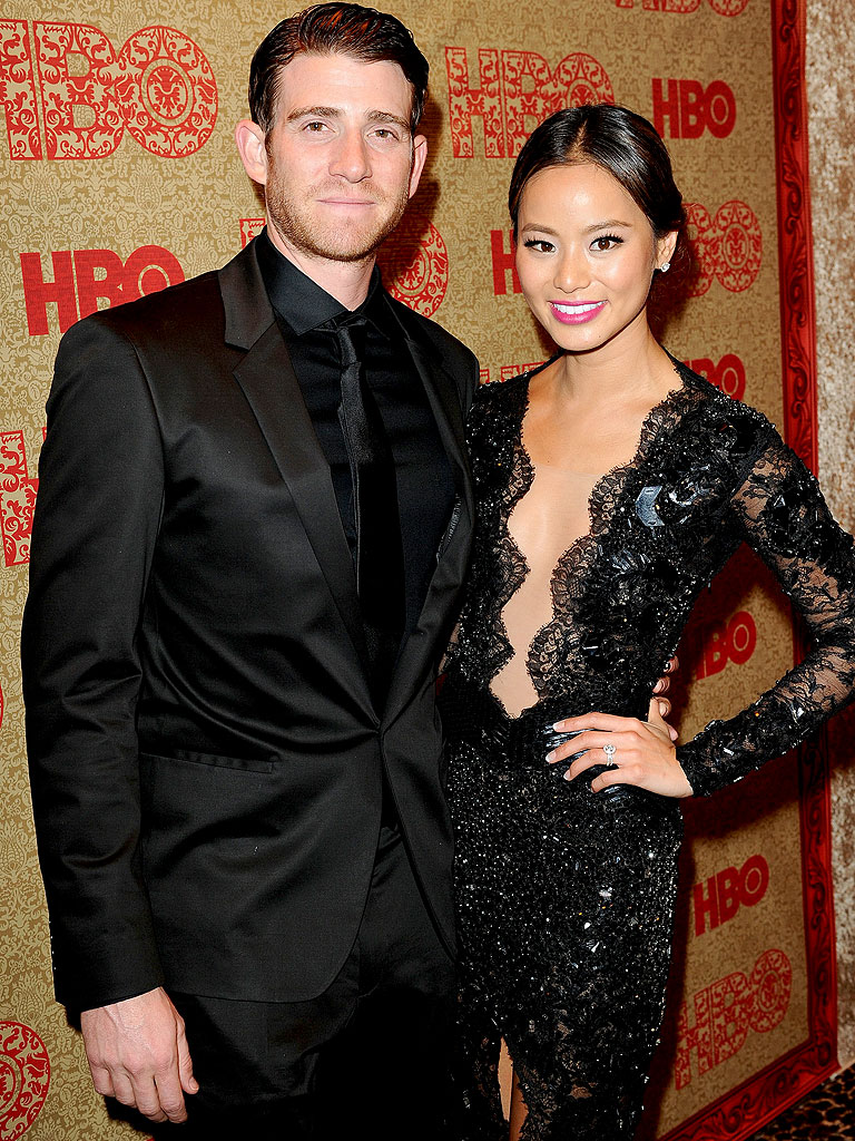 Jamie Chung with cool, friendly, handsome, Fiancé Bryan Greenberg