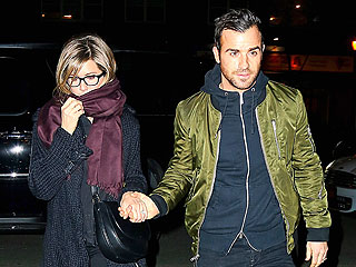 Jennifer Aniston and Justin Theroux Have a Date Night in N.Y.C. | Jennifer Aniston, Justin Theroux
