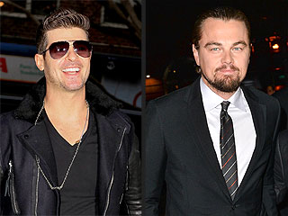Robin Thicke Celebrates 37th Birthday Clubbing with Leonardo DiCaprio