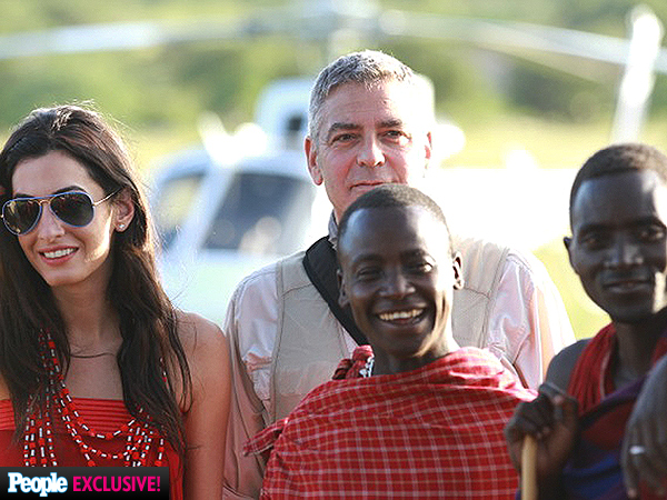 George Clooney Takes Amal Alamuddin on Safari| Couples, Amal Alamuddin, George Clooney