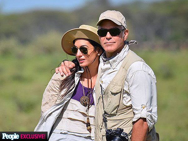 George Clooney Takes Amal Alamuddin on Safari