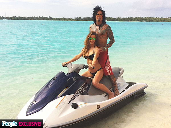 Nikki Sixx and Courtney Bingham Honeymoon in Bora Bora| Couples, Weddings, Nikki Sixx