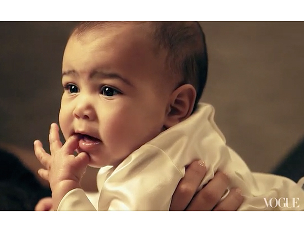 North West Vogue Video Kim Kardashian Kanye West