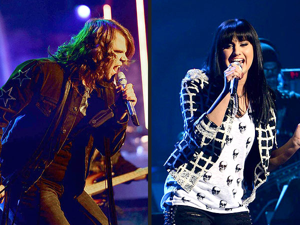 American Idol: Caleb Johnson and Jena Irene Rock It Out