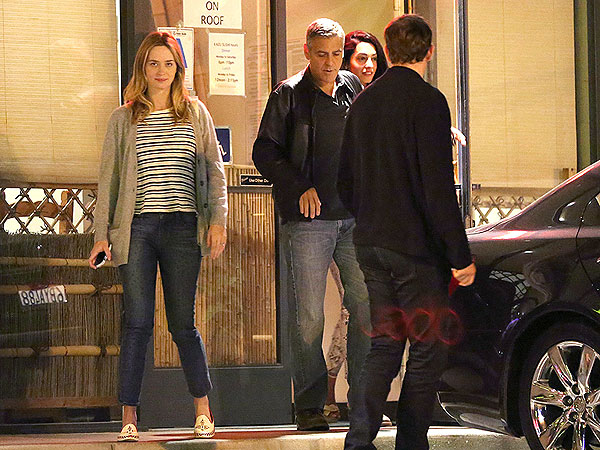 PHOTO: Which Celebrity Couple Went on a Date with George Clooney? | Amal Alamuddin, Emily Blunt, George Clooney, John Krasinski