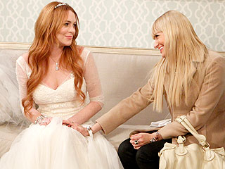 Why Is Lindsay Lohan Wearing a Wedding Dress?