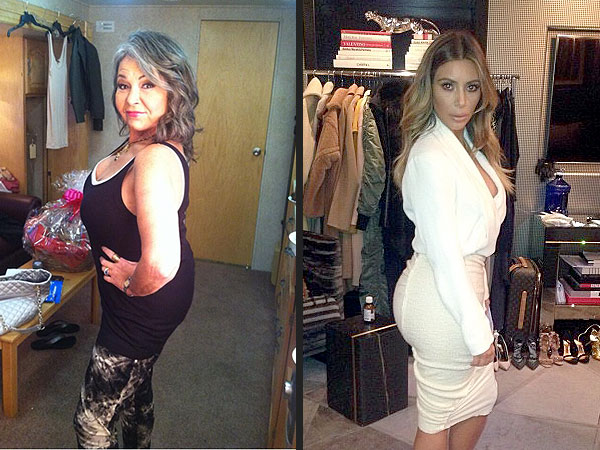 Roseanne Barr Poses Like Kim Kardashian in Sexy Twitpic