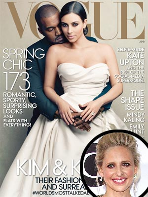 Sarah Michelle Gellar Disses Kim's Vogue Cover, James Franco Spoofs It