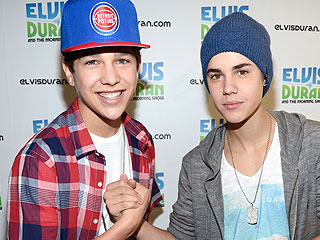 Justin Bieber and Austin Mahone Hit the Recording Studio