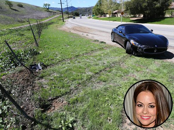 Brooke Burke-Charvet Crashes Maserati Into Fence, Tweets 'I Was Sober' | Brooke Burke