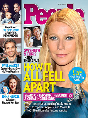 Gwyneth Paltrow, Chris Martin's Split: The Real Story in PEOPLE Magazine