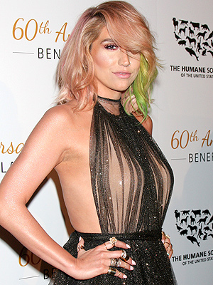 Kesha Hits the Red Carpet for the First Time Since Rehab