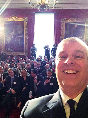 Prince Andrew Takes the First Royal Selfie at Buckingham Palace (and It's Awesome)