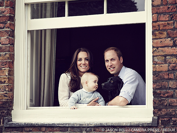 Prince George Duke and Duchess of Cambridge Royal Photo