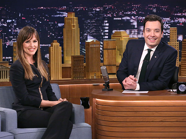 Jennifer Garner with Jimmy Fallon